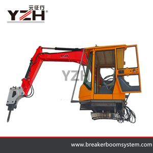 Pedestal Boom Rock Breakers System For Jaw Crusher